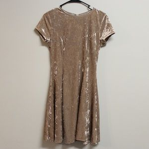 Urbanology nude/gold Velvet Swing Dress
